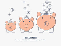 Investment and Saving concept with piggy banks. Stock Images