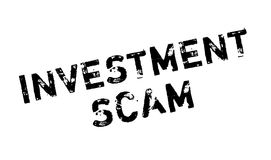 Investment Scam rubber stamp. Grunge design with dust scratches. Effects can be easily removed for a clean, crisp look. Color is easily changed Royalty Free Stock Photography