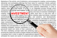 Investment sign Royalty Free Stock Photo