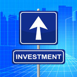 Investment Sign Shows Savings Pointing And Return Royalty Free Stock Images
