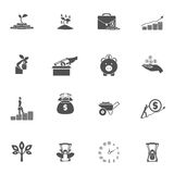 Investment Silhouette Icon Set Royalty Free Stock Photography