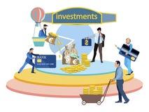 Investment in startup company business vector flat. Metaphor of investment in startup company business. Cartoon vector illustration flat stock illustration