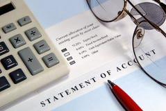 Investment Statement Closeup