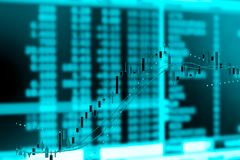 Investment stock market graph chart,double exposure. Royalty Free Stock Images