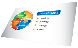 Investment strategy. Abstract illustration with color chart Stock Photography