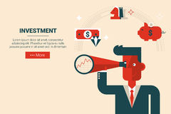 Investment strategy concept Royalty Free Stock Images