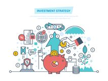 Investment strategy. Financial long term investment plan. Marketing, banking, growth. Investment strategy. Financial long term investment plan. Marketing Stock Image