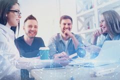 Investment, teamwork, future and meeting concept royalty free stock photo