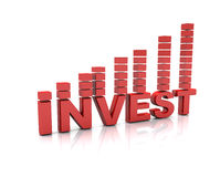 Investment text Royalty Free Stock Photos
