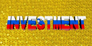 Investment text with Slovenian flag on coins illustration. Investment text with Slovenian flag on numerous coins 3d illustration Royalty Free Stock Images