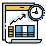 Investment timing LineColor illustration royalty free illustration
