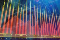Investment, trade, finance and internet concept. Abstract forex chart background. Investment, trade, finance and internet concept. 3D Rendering Royalty Free Stock Photo