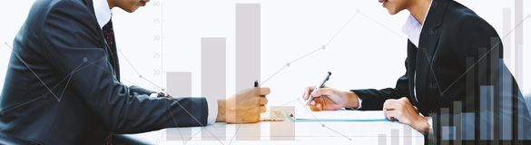 The investment of two traders. In the stock market Royalty Free Stock Photography