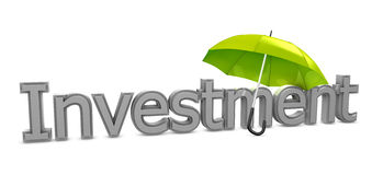 Investment umbrella Royalty Free Stock Photos