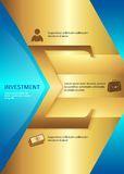 Investment vertical format A4 leaflet page presentation. Business corporate template vector illustration EPS 10. Abstract background for chart process service Stock Images