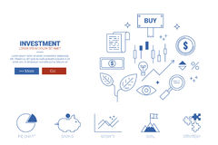 Investment website concept Royalty Free Stock Photos