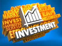 Investment. Wordcloud Concept. Stock Image
