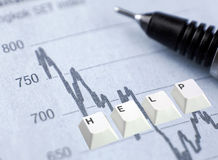 Investment Worries Stock Photography