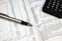 Investmentfonds-Prospekt 2 Lizenzfreies Stockbild