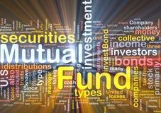 Investmentfondshintergrundkonzeptglühen Lizenzfreie Stockfotografie