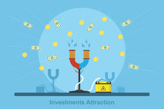 Investments attraction Royalty Free Stock Image