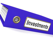 Investments File Showing Growing Wealth Royalty Free Stock Photography