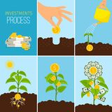 Investments Process and financial business growth concept.. Investments Process and financial business growth concept. Growing money tree Royalty Free Stock Images