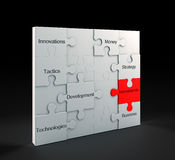 Investments puzzle Royalty Free Stock Photos