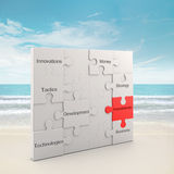 Investments puzzle concept Royalty Free Stock Photos