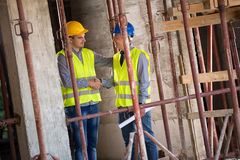 Investor and architect making agreement Stock Photography