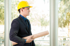 Investor at a building site Stock Photos