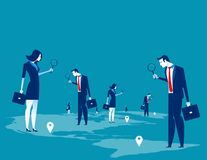 Investor. Business people searching for investment. Concept business character vector illustration vector illustration