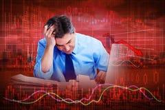 Stock market crash. stock photo