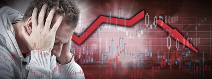 Stock market crash. Royalty Free Stock Images