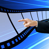 Investor choose the blank film Royalty Free Stock Photo