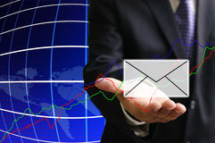 Investor get the news of stock exchange Stock Photography