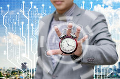 Investor give more time for finish work royalty free stock images