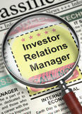 Investor Relations-Manager Wanted 3d Lizenzfreie Stockfotos
