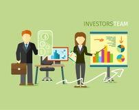 Investoren Team People Group Flat Style Stockfotografie