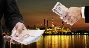 Investors invest in Oil refinery industrial. Concept Stock Images