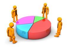 Investors Piechart Stock Image