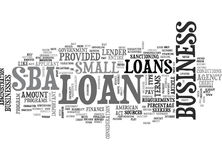 When Investors Say No Maybe Your Bank Will Say Yes With A Little Help From The Government Word Cloud Royalty Free Stock Image
