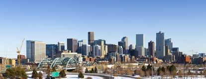 Invierno 2010 del horizonte de Denver Colorado imagenes de archivo