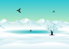 Invierno. ilustración del vector