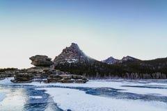 Invierno asombroso Borovoe Foto de archivo libre de regalías