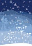 Invierno azul Imagenes de archivo