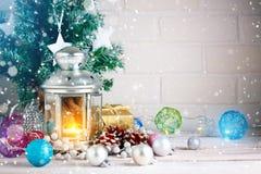 Invierno background Juguetes del ` s del Año Nuevo Feliz Año Nuevo y Feliz Navidad Imagen de archivo libre de regalías