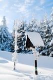Invierno en montañas Fotos de archivo