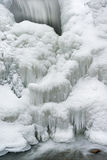 Invierno, cascada de la cala de Comstock Foto de archivo libre de regalías