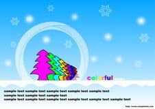 Invierno colorido Fotos de archivo libres de regalías